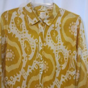 J. Crew The Perfect Shirt silk blend sz 8